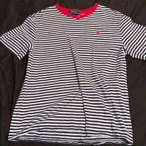 Sz 14-16 striped polo t-shirt